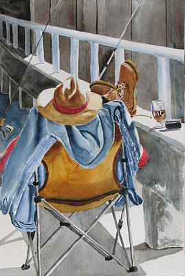 Painting - Hard Day At Work by Libby  Cagle