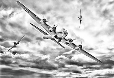 B-17 Wall Art - Digital Art - Hard Days Night by Peter Chilelli