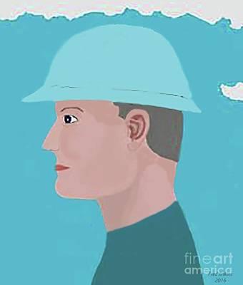 Hard Hat Oil Field Art Print by Fred Jinkins