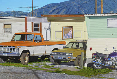 Bozeman Painting - Hard Living In Paradise by Michael Ward