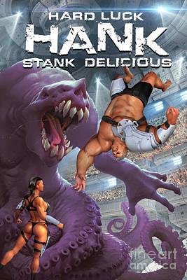 Noir Digital Art - Hard Luck Hank--stank Delicious--front by Steven Campbell
