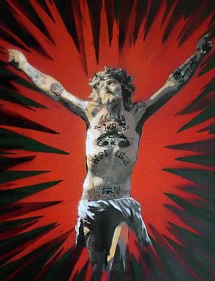 Crusifix Painting - Hard Luck by Jan Olav Forberg