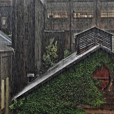 Lehigh Photograph - Hard Rain by DJ Florek