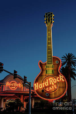 Photograph - Hard Rock Cafe And Guitar At Dawn by Aloha Art