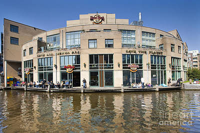 Hard Rock Cafe In Amsterdam Art Print by Andre Goncalves