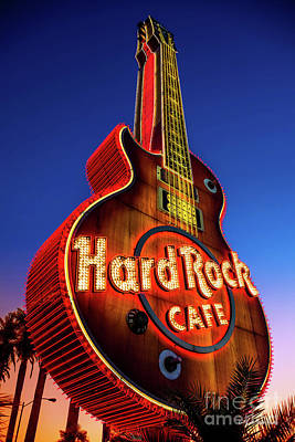 Photograph - Hard Rock Hotel Guitar At Dawn by Aloha Art