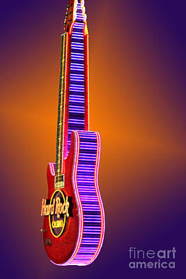 Photograph - Hard Rock Neon by Steven Parker