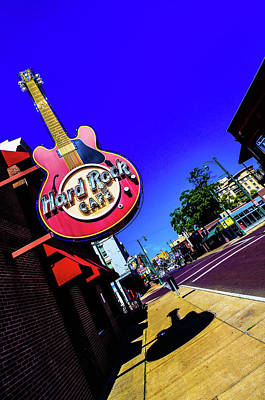 Photograph - Hard Rockin On Beale by D Justin Johns