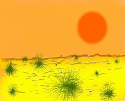Art Print featuring the digital art Hard Sun Of Desert by Dr Loifer Vladimir
