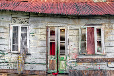 Photograph - Old Wooden Windows And Door by Nadia Sanowar