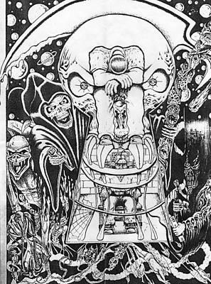 Reaper Mixed Media - Hard Times by John Balestrino