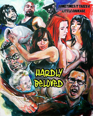 Painting - Hardly Beloved Poster A by Mark Baranowski
