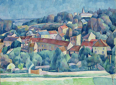 Hardricourt Village And Castle Art Print