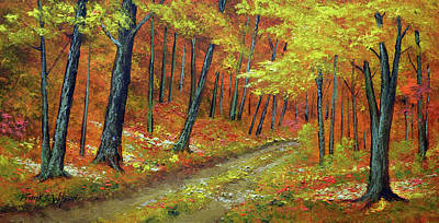 Painting - Hardwood Forest by Frank Wilson