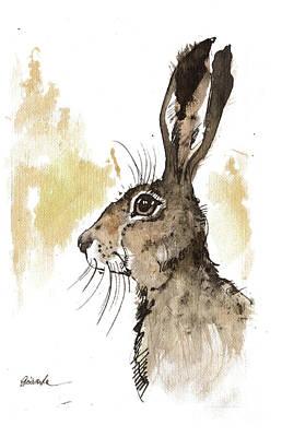 Painting - Hare 2018 05 18 by Angel Ciesniarska