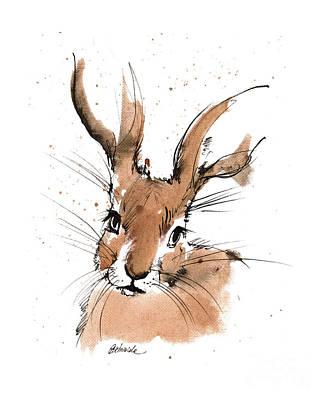 Painting - Hare 2018 05 20 by Angel Ciesniarska
