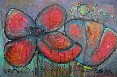 Painting - Hare Hare Poppies by Laurie Maves ART
