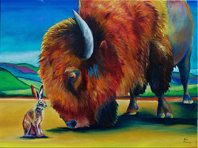 Buffalo Painting - Hare Is In The Eyes Of The Beholder by Robert Pankey