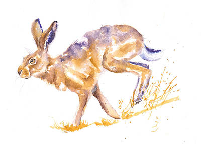 March Hare Painting - Harebrained by Debra Hall
