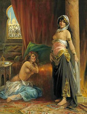 Henri Adrien Tanoux Painting - Harem Beauty by Henri Adrien Tanoux