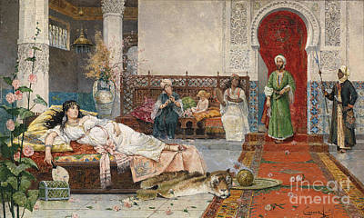 Turkish Painting - Harem by Celestial Images