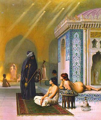 Harem Pool 1880 Art Print by Padre Art