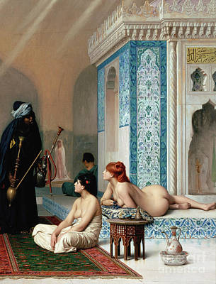 Jessica Alba Painting - Harem Pool, Jean-leon Gerome by Jean Leon Gerome