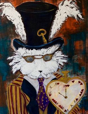 Rabbit Painting - Harey Gentleman by Mary Papageorgiou