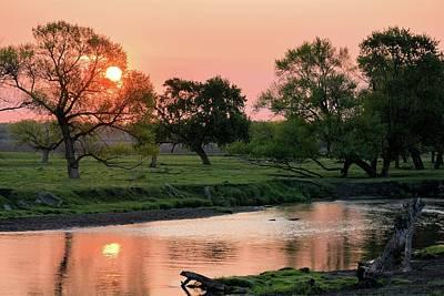 Photograph - Hargrave Creek Sunrise by Bonfire Photography