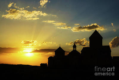 Photograph - Harichavank Monastery At Sunset, Armenia by Gurgen Bakhshetsyan