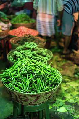 Real Life Photograph - Haricots Verts For Sale In The Morning Market by Mike Reid