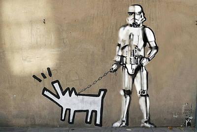 Haring Dog And Clone   Original