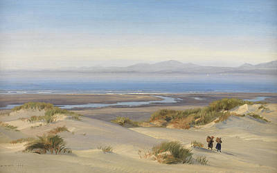 Sand Dunes Painting - Harlech Beach by Henry Moore