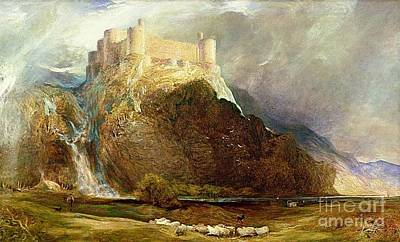 Clarence Painting - Harlech Castle by MotionAge Designs