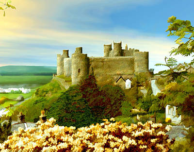 Photograph - Harlech Castle by Kurt Van Wagner