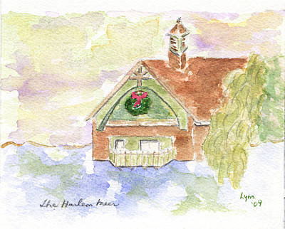 Painting - Harlem Meer Holidays by Afinelyne
