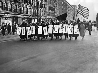 Race Discrimination Photograph - Harlem Protests The Scottsboro Verdict by Everett