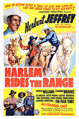 Harlem Rides The Range 1939 Art Print by Mountain Dreams