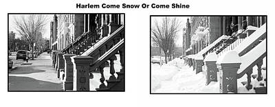 Photograph - Harlem Summer Winter by William Kimble