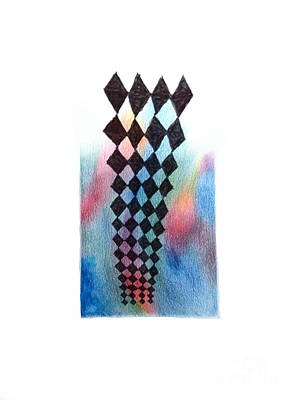 Abstract Design Drawing - Harlequin  by Andy  Mercer