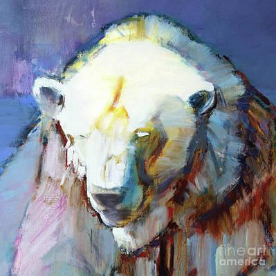 Wild Bear Painting - Harlequin  Detail by Mark Adlington