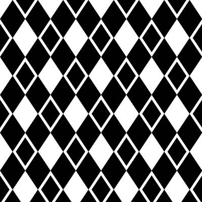 Digital Art - Harlequin Diamond Pattern - Choose Your Color by Mark E Tisdale