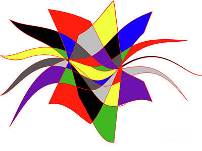 Painting - Harlequin Flower by Methune Hively