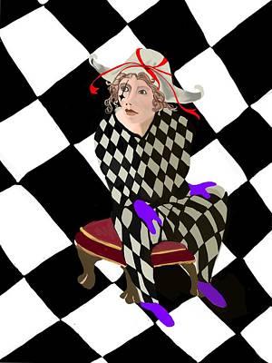 Digital Art - Harlequin by Gerry Morgan