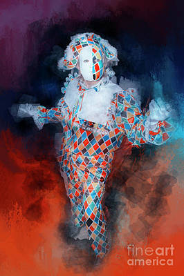 Digital Art - Harlequin by Jack Torcello