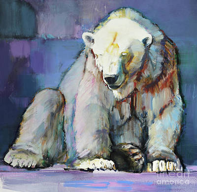 Sitting Bear Painting - Harlequin by Mark Adlington