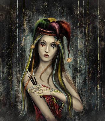 Jester Digital Art - Harlequin Painter by Angeles Ruiz