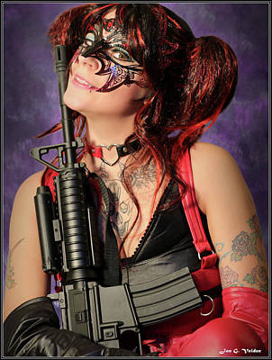 Photograph - Harlequin With Gun by Jon Volden