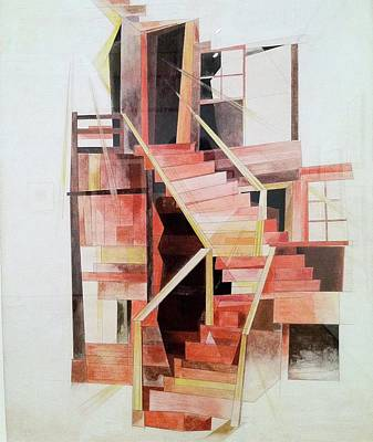 Harle Wall Art - Painting - harles Demuth,  Stairs, Provincetown,  1920 by Adam Asar