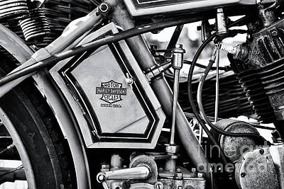 Photograph - Harley 11f Detail by Tim Gainey